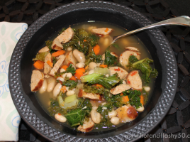 Kale, Chicken Sausage & White Bean Soup