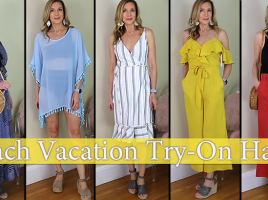 26598b25157 Affordable Beach Vacation Try-On Haul! Amazon Fashion